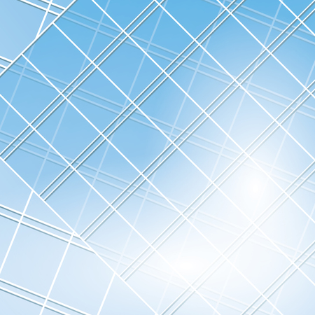 modern buildings: fen�tres vectoriels bleues sur les b�timents modernes - EPS 10