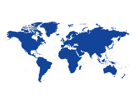the continents: dark blue map of the world - vector continents