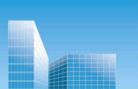 modern buildings: b�timents modernes dans la ville - vecteur fond