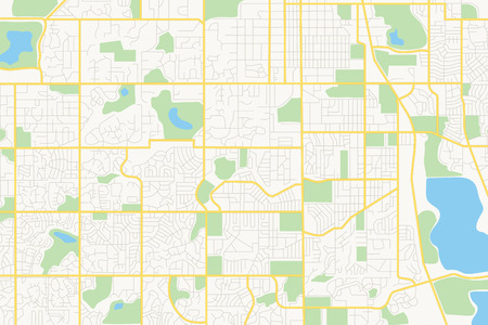 streets on the plan - vector city