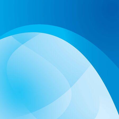 quadratic: sfondo blu, con ondulato astrazione - disegno vettoriale Vettoriali