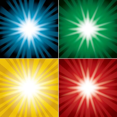 color backgrounds: set of color backgrounds with flash  vector