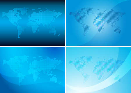 blue  backgrounds: backgrounds with abstract maps - blue vector set