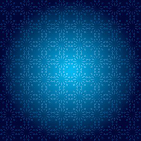 dark background: dark blue vintage pattern with radial gradient - vector