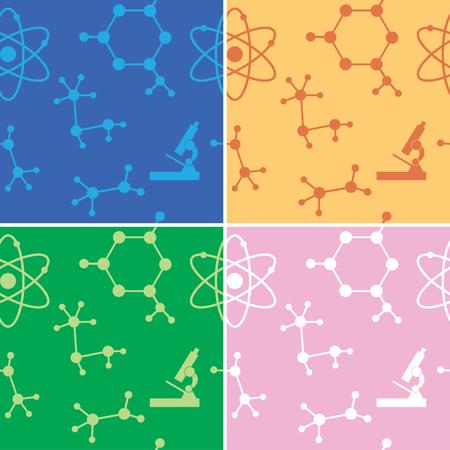 seamless: seamless patterns - molecules Illustration
