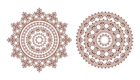 ornamental elements: round ornamental elements - decorative