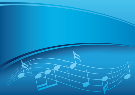 melodic: dark blue music background with gradient