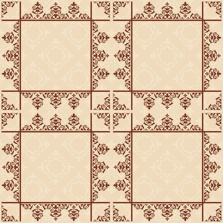 light brown: light brown seamless pattern with squares - vector background