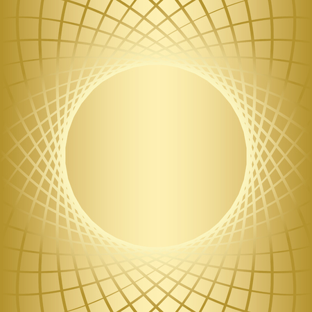 distort: gold vector background with golden round grid