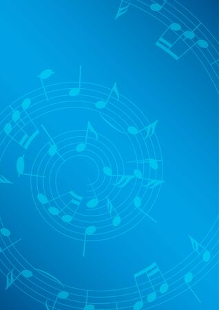 music background: blue music background with notes