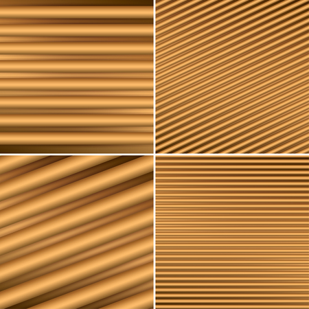 brown backgrounds: bright brown backgrounds with parallel lines and gradient - vector