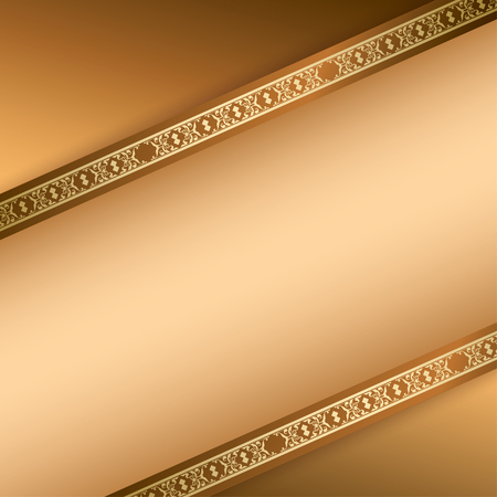 light brown: light brown background with ornamental lines - vector