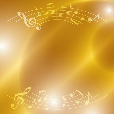 melodic: bright music vector background with notes and lights