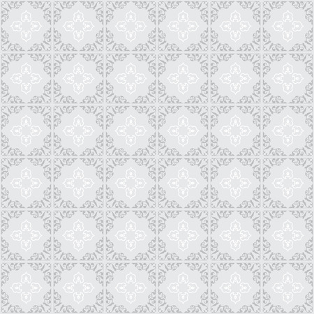 gray: gray ornament on gray background - seamless vector