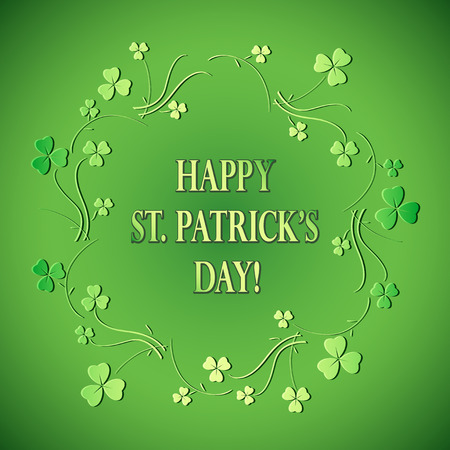 green floral background for st patricks day - vector