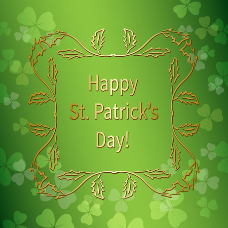 bright green background for st patricks day - vector gradient