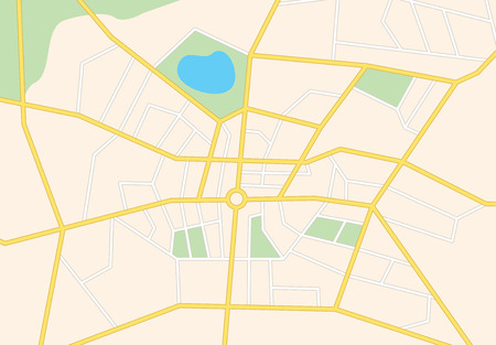 city streets on the map - vector