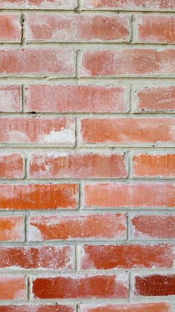 fragment of the building wall - red bricks