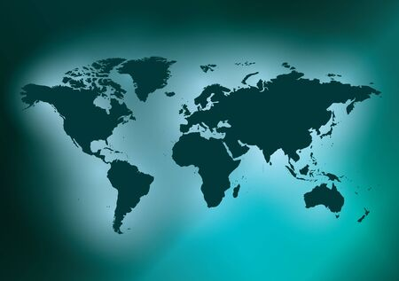 dark green background with map of the world - vector. Eps in CMYK.