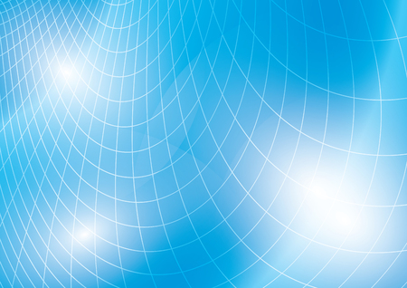 light blue vector background with curved grid Stock fotó - 87932298