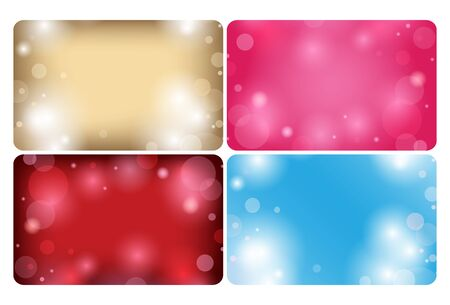 abstract backgrounds with bokeh - vector cards  Illustration