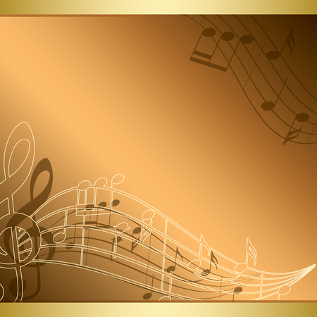 Bright background with music notes - vector flyer.