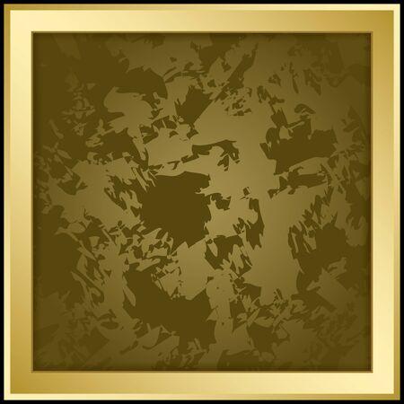 Gold vector frame with dark grunge background vector illustration Illustration