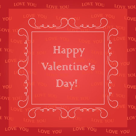 Red Valentines day card design vector illustration