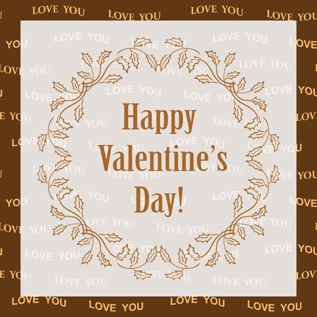 ornamental vector background happy valentines day