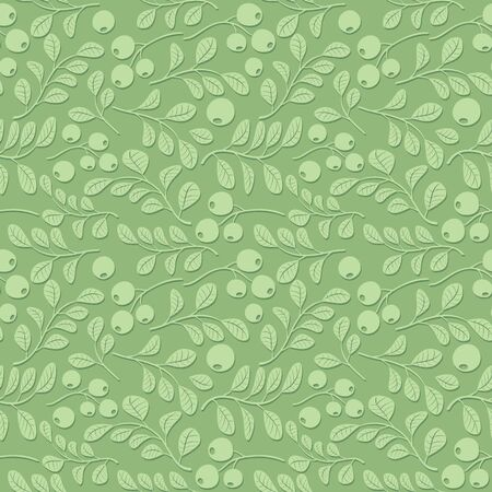 light green floral pattern with shadow seamless vector
