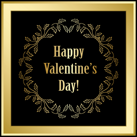 gold and black  vector background - happy valentines day