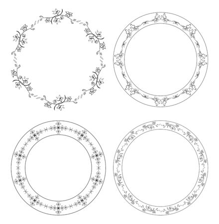 Floral vector frames with flowers Stock Vector - 95208328