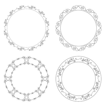 Floral with branches frames vector design Illustration