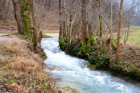 stream near hills - Baden-Wurttemberg region in Germany