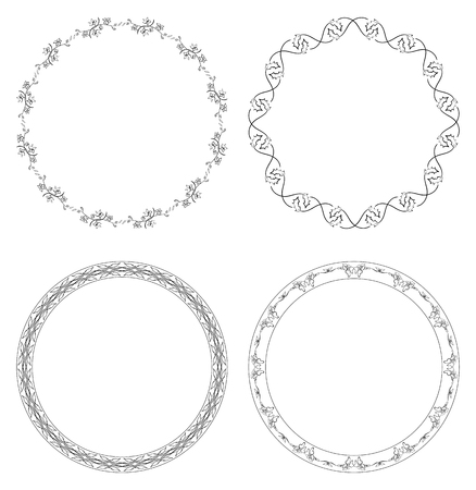 decorative vector frames - flowers and branches Stock Vector - 96121427