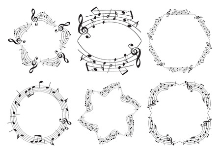 music frames - beautiful vector set  Illustration