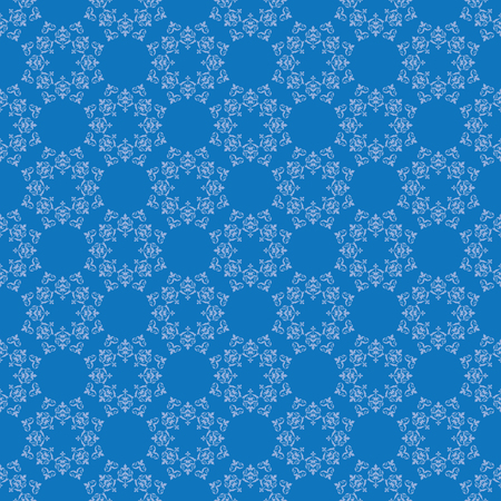 bright blue vector seamless pattern with vintage ornament Illustration