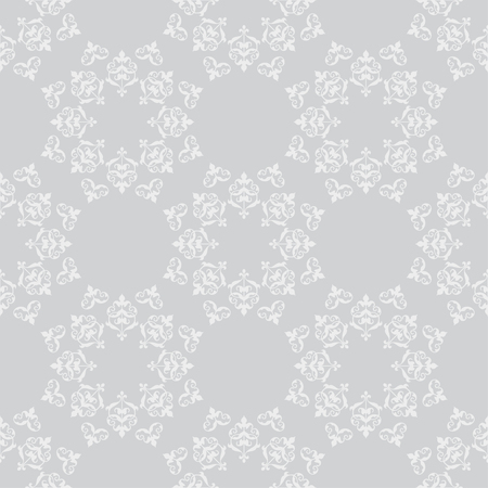 light gray vector seamless pattern with vintage ornament