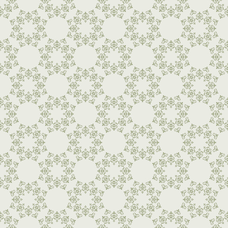 light olive vector seamless pattern with vintage ornament