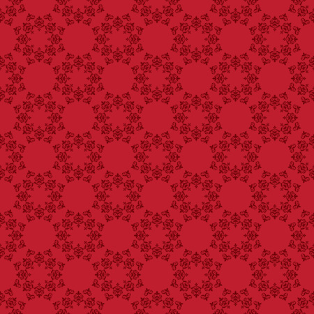 bright red vector seamless pattern with vintage ornament Illustration
