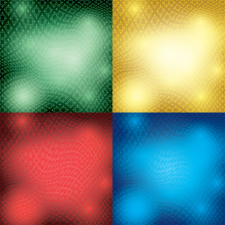 abstract backgrounds with distorted ornament - vector set