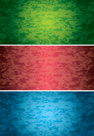 set of vector bright grunge style backgrounds Stock Vector - 107368038