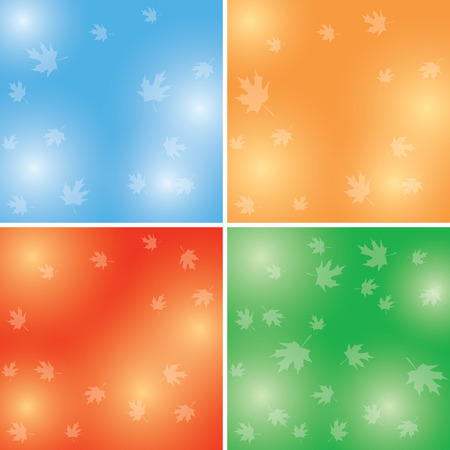 autumn backgrounds with transparent light maple leaves - vector set