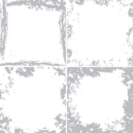 white backgrounds with grunge frames - vector set