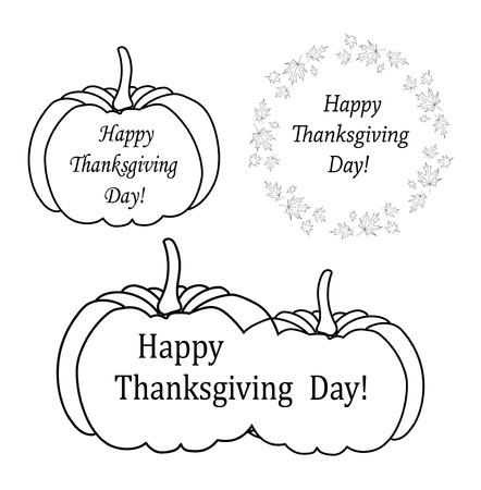 decorative design elements for thanksgiving day - vector