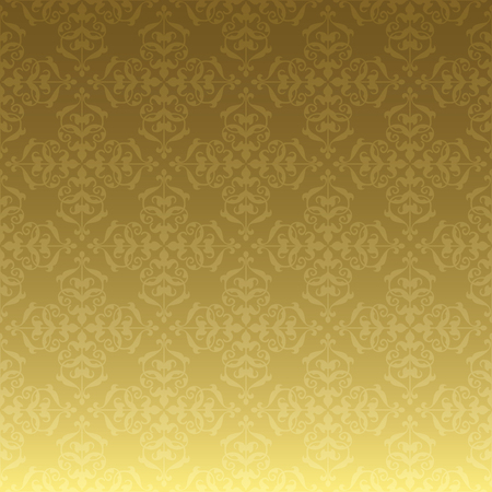 gold vector background with luxury ornament and gradient