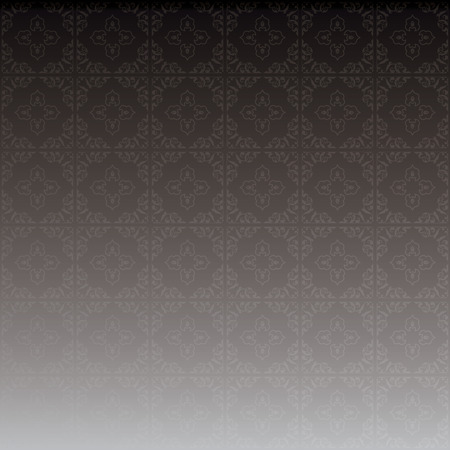 gray vector background with beautiful ornament and gradient