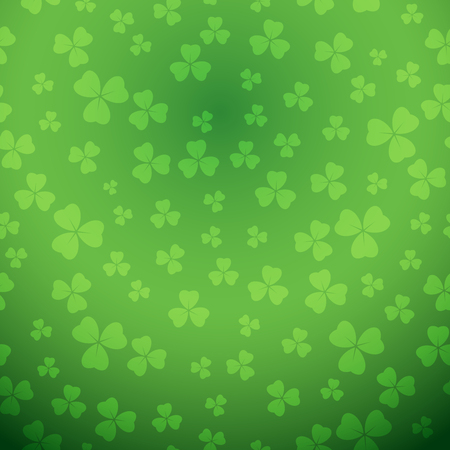 bright green saint patrick vector background with gradient