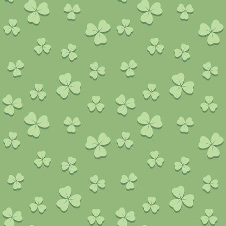 light green seamless pattern for saint patrick day - vector background Illustration