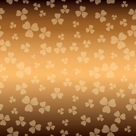 brown texture for patricks day - vector background with shamrock Illustration